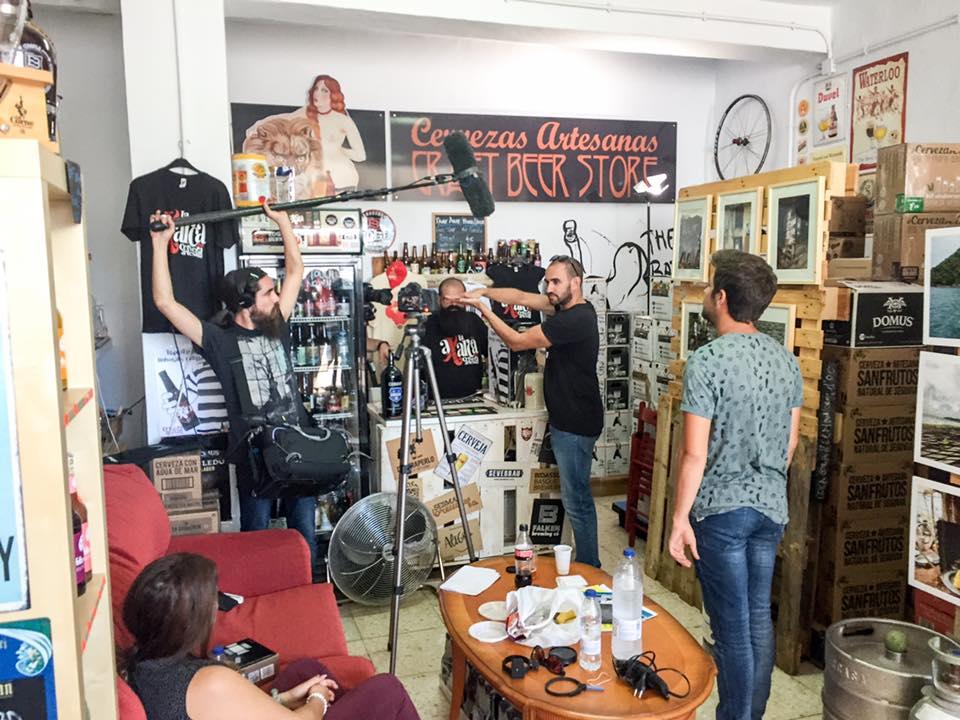 Rodaje de cine en el garaje de la Calle San Sebastián de Frigiliana